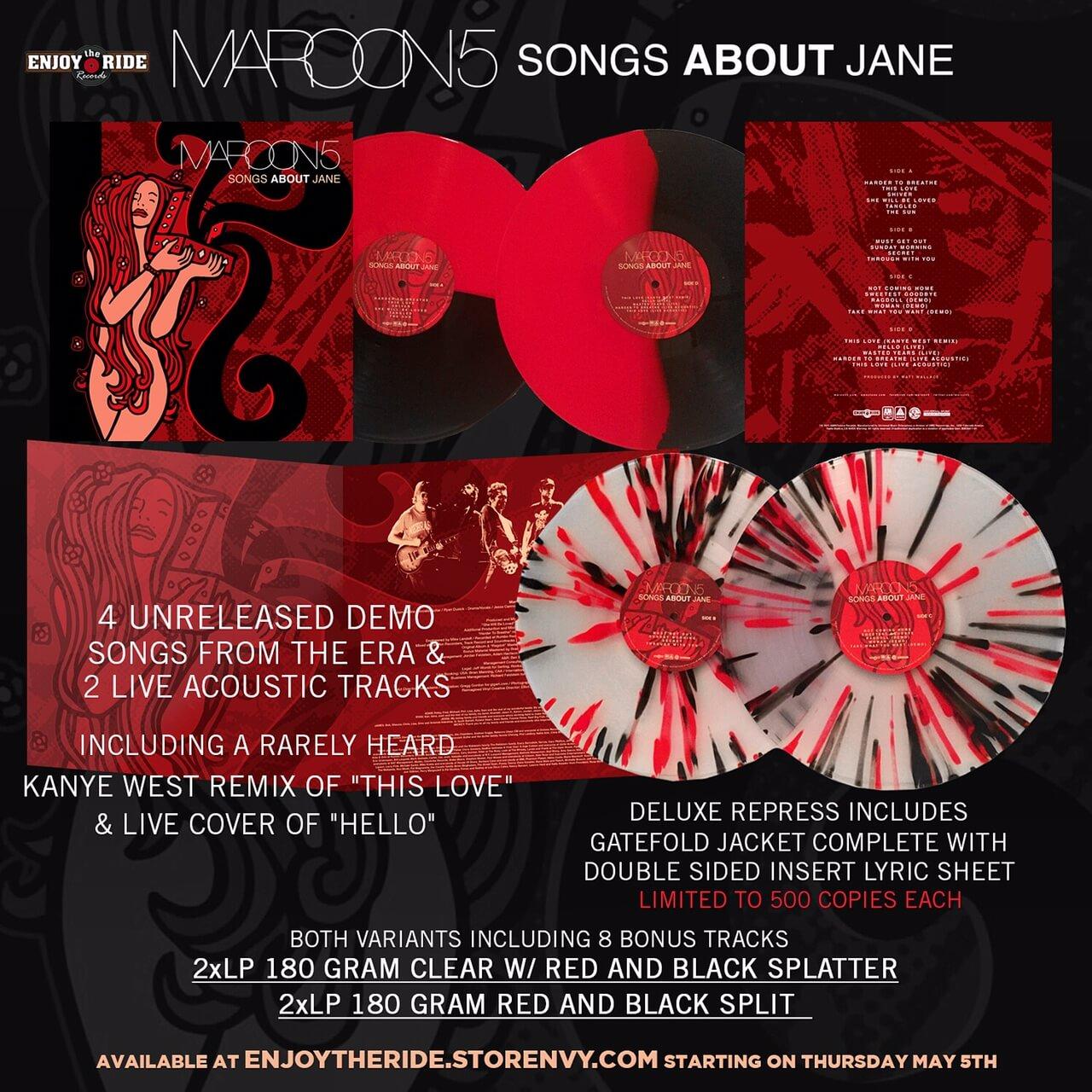New Pressing Maroon 5 Songs About Jane Modern Vinyl