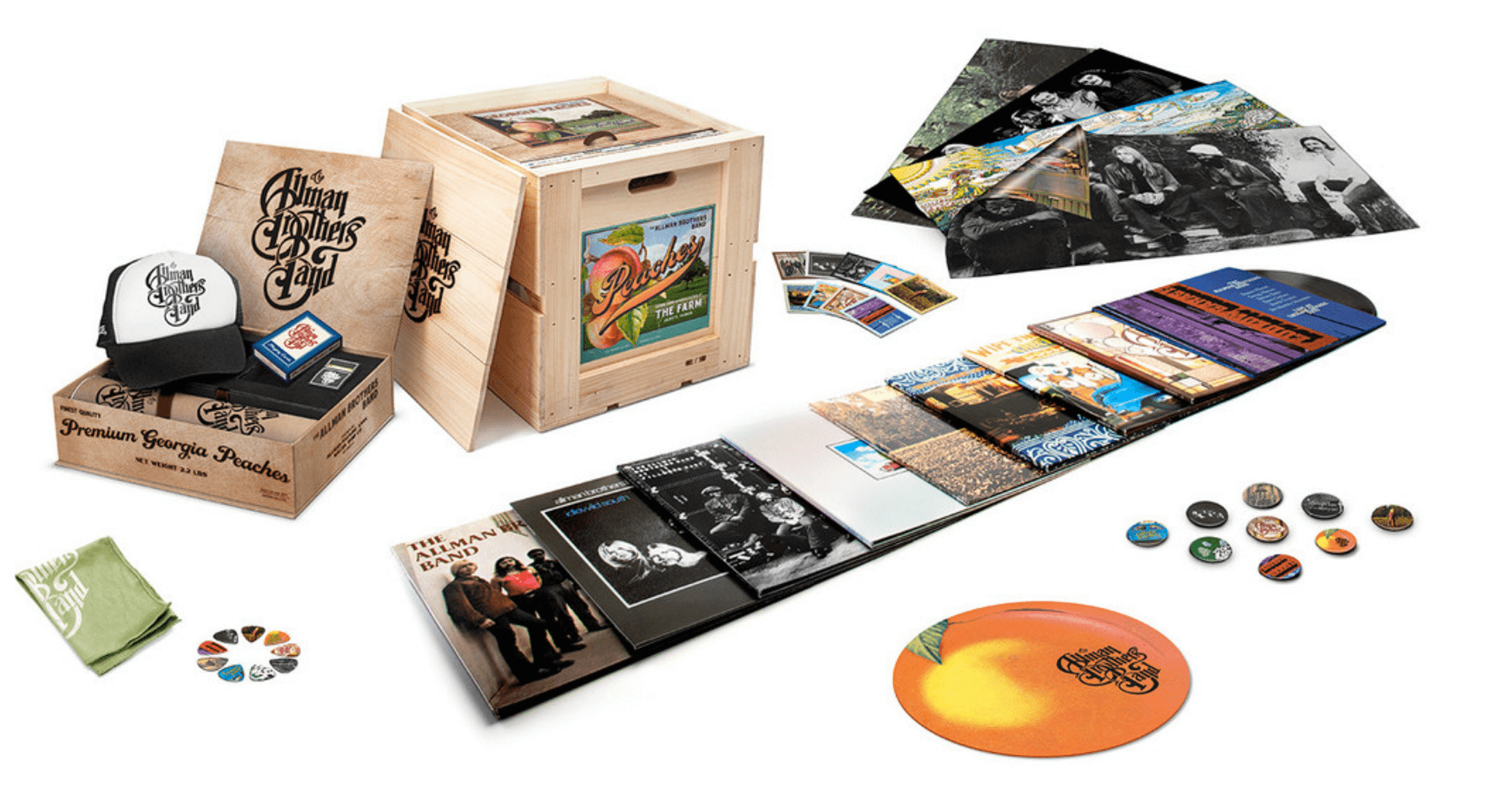 Allman Brothers Releasing 15xlp Set Packaged In Peach