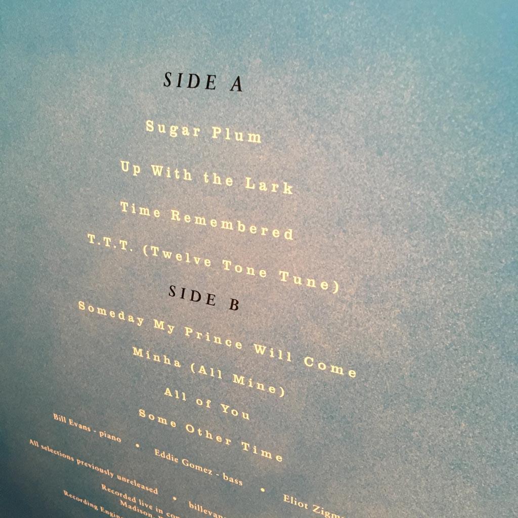 Vinyl Review: The Bill Evans Trio — On A Monday Evening ‹ Modern Vinyl